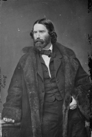Aboitionist James Russell Lowell photographed by Mathew Brady circa 1855-1865
