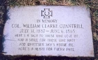 William Quantrill\&#039;s grave in Louisville, KY