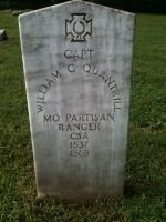 William Quantrill's grave in Higginsville, MO