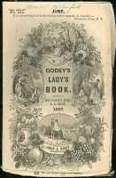 Cover of Godey\&#039;s Lady\&#039;s Book circa June 1867