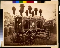 Abraham Lincoln's hearse in Springfield, Illinois in 1865