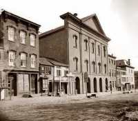 Ford's Theater photographed by Mathew Brady 1860-1865