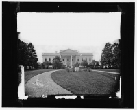 White House photographed by Mathew Brady circa 1860s