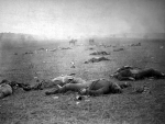 Battle of Gettysburg, dead Union soldiers, circa July 1863