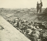 "Battle of Antietam, dead soldiers in ""Bloody Lane,"" circa Sept of 1862"