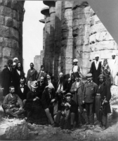 Ulysses S. Grant (seated, facing right) with a group of tourists at Karnak, Egypt in 1879