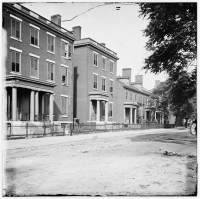 Franklin Street in Richmond, Va including the residence of Gen. Robert E. Lee (second from left) circa 1865.