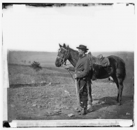 A cavalry orderly at Antietam, photographed by Alexander Gardner, circa Sept-Oct 1862