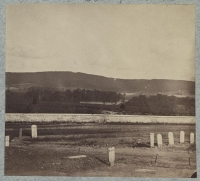 Antietam Cemetery in foreground, South Mountain in background - gap shows location of Signal Station during battle. Photo taken circa 1862-1865