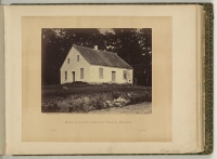 Dunker Church, battlefield of Antietam, photographed by James Gardner, circa July 1863