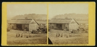 Smith\'s barn, near Keedysville, used as a hospital after the battle of Antietam, photographed by Alexander Gardner, in 1862