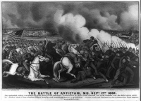 """The Battle of Antietam, Md. Sept. 17th 1862"" lithograph by Currier & Ives circa 1862-1863"