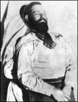 Post mortem photo of Jesse James in 1882