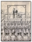 Illustration of John Brown\&#039;s hanging circa 1859
