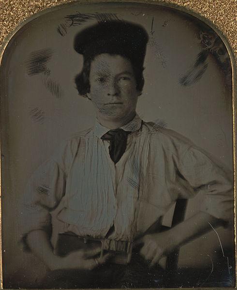 Mark Twain in 1850, age 15