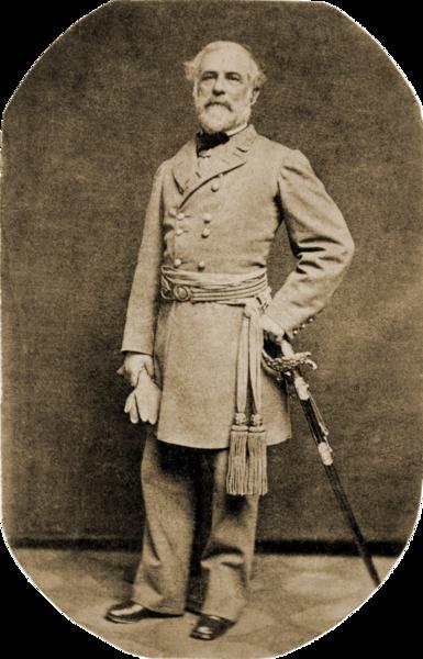 Robert E. Lee in uniform in 1863