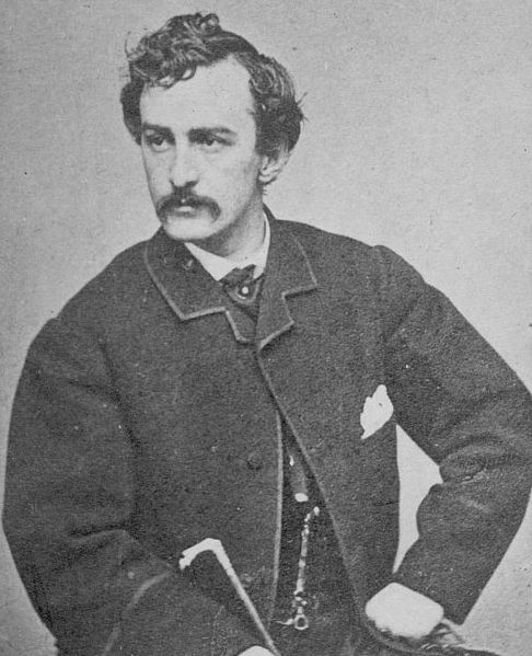 John Wilkes Booth photographed by Alexander Gardner in 1863