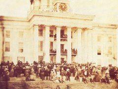 Jefferson Davis' inauguration in Montgomery, AL in February of 1861