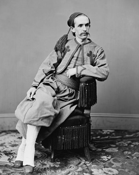 John H. Surratt photographed in his Papal Zouave uniform by Mathew Brady circa 1867