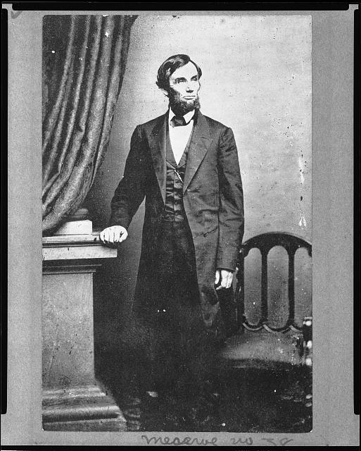 Abraham Lincoln, photographed by Mathew Brady, circa 1861