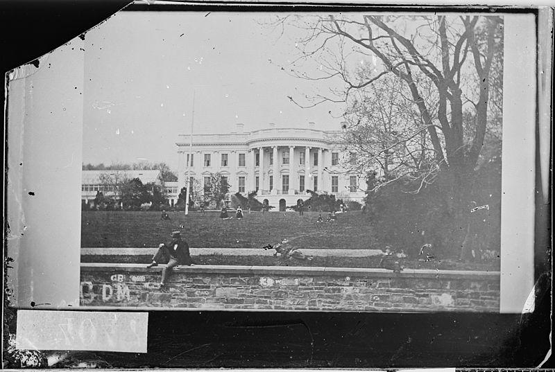 White House, photographed by Mathew Brady, circa 1861-1865