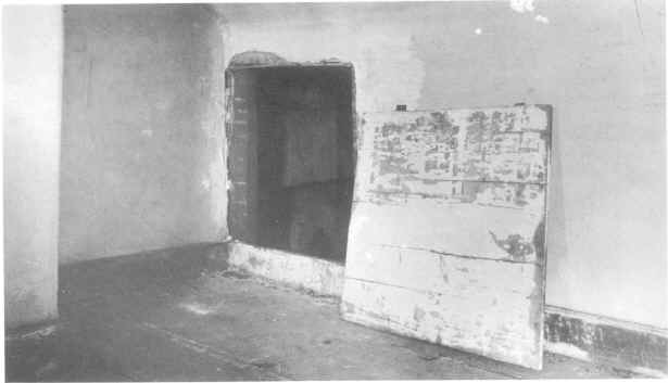 The secret passage in the Van Lew mansion where Van Lew hid Unionists and escaped prisoners during the Civil War, circa 1890