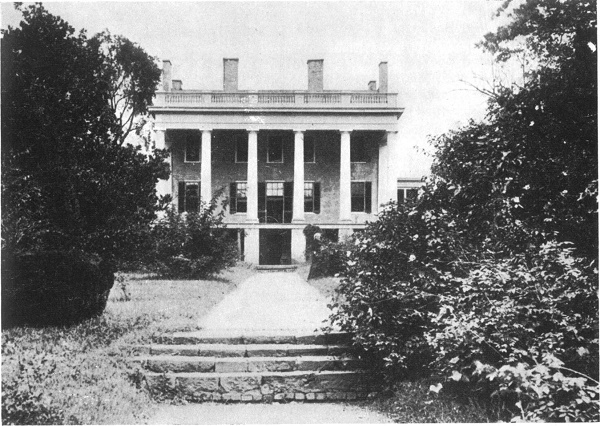 Van Lew Mansion, from the south, circa 1890 Elizabeth Van Lew stands at right center