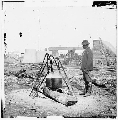 An African-American army cook in City Point, VA