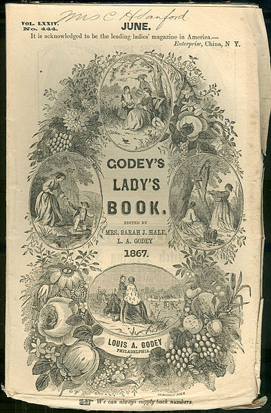 Cover of Godey's Lady's Book circa June 1867