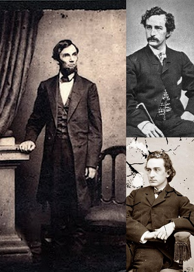 Stage actor Edwin Booth (bottom right) voted to reelect Abraham Lincoln in 1864, much to the dismay of his younger brother John Wilkes Booth (top right)