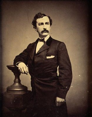 John Wilkes Booth photographed in a Boston studio. Date unknown.