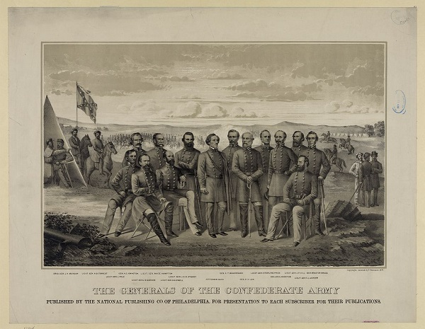The Generals of the Confederate Army, illustration, circa 1879