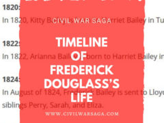 Timeline of Frederick Douglass's Life